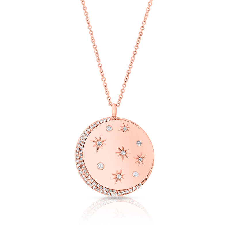 14KT Rose Gold Diamond Stellar Necklace