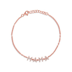 14KT Rose Gold Diamond Mama Bracelet