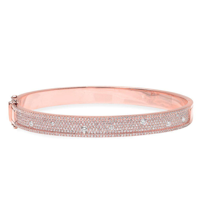 14KT Rose Gold Diamond Candice Bangle Bracelet