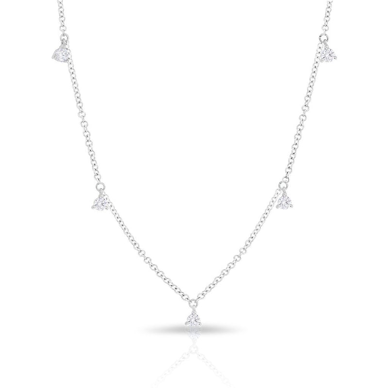 14KT White Gold Diamond Shanley Necklace