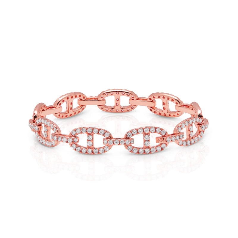14KT Rose Gold Diamond Luxe Reign Bracelet