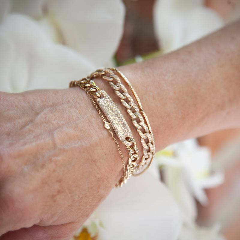 14KT Yellow Gold Diamond Luxe ID Bracelet-Anne Sisteron
