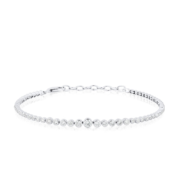 14KT White Gold Diamond Carly Bracelet