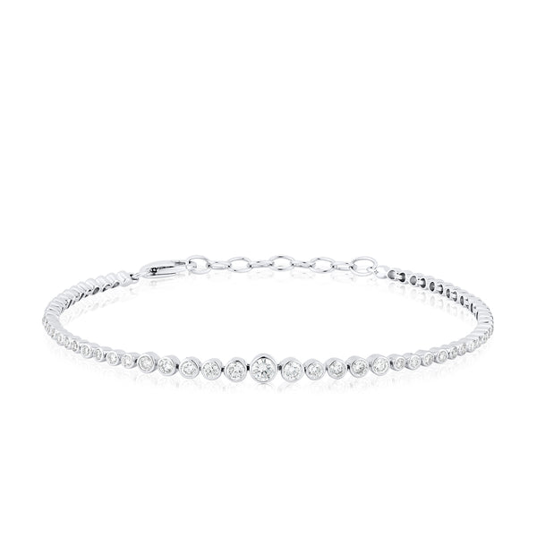diamond leash bracelet small wrist