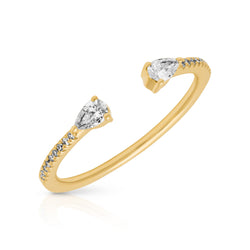 14KT Yellow Gold Diamond Monet Stacking Ring