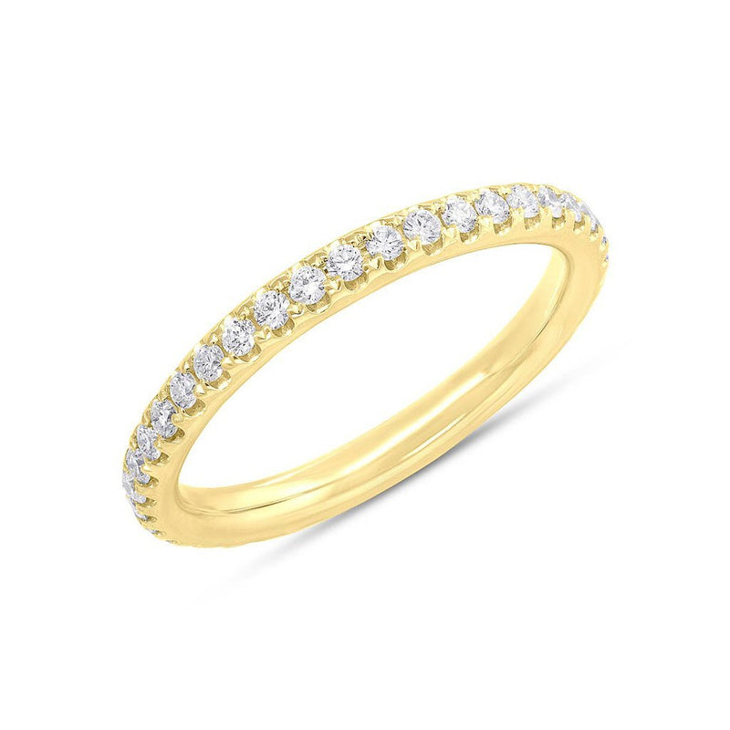 14KT Yellow Gold Diamond Luxe Eternity Stacking Ring