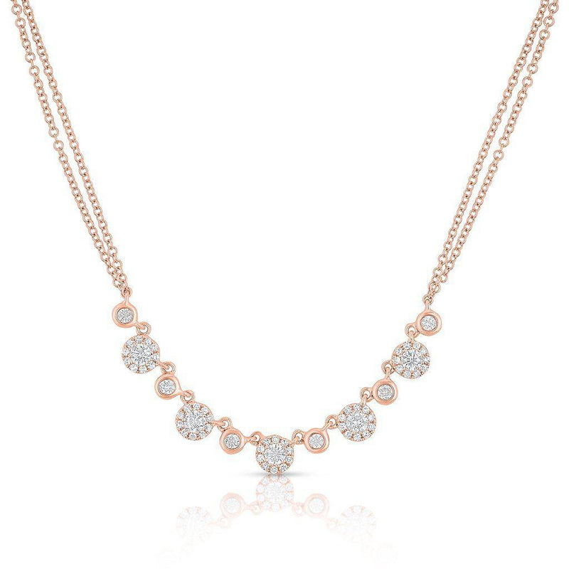 14KT Rose Gold Diamond Double Chain Danielle Necklace