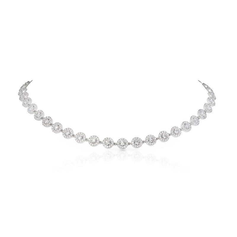 18KT White Gold Diamond Theodoisa Necklace