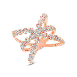 14KT Rose Gold Diamond Harper Ring