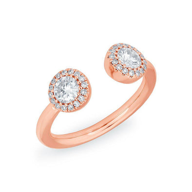 open diamond pinky pinkie ring