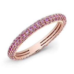14KT Rose Gold Pink Sapphire Ring