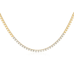14KT Yellow Gold Baguette Diamond Alaina Necklace