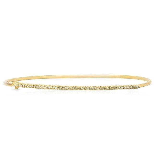 14KT Yellow Gold Diamond Bar Latch Bracelet
