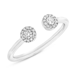 14KT White Gold Diamond Philippa Ring