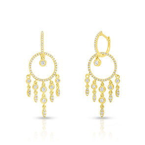 14KT Yellow Gold Diamond Anika Earrings