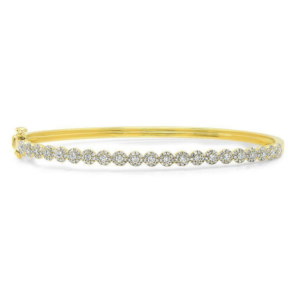 14KT Yellow Gold Diamond Small Kira Bangle