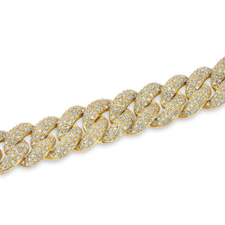 14KT Yellow Gold Diamond Amalie Chain Link Bracelet
