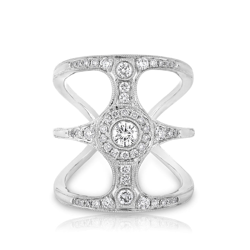 14KT White Gold Diamond Ophelia Ring
