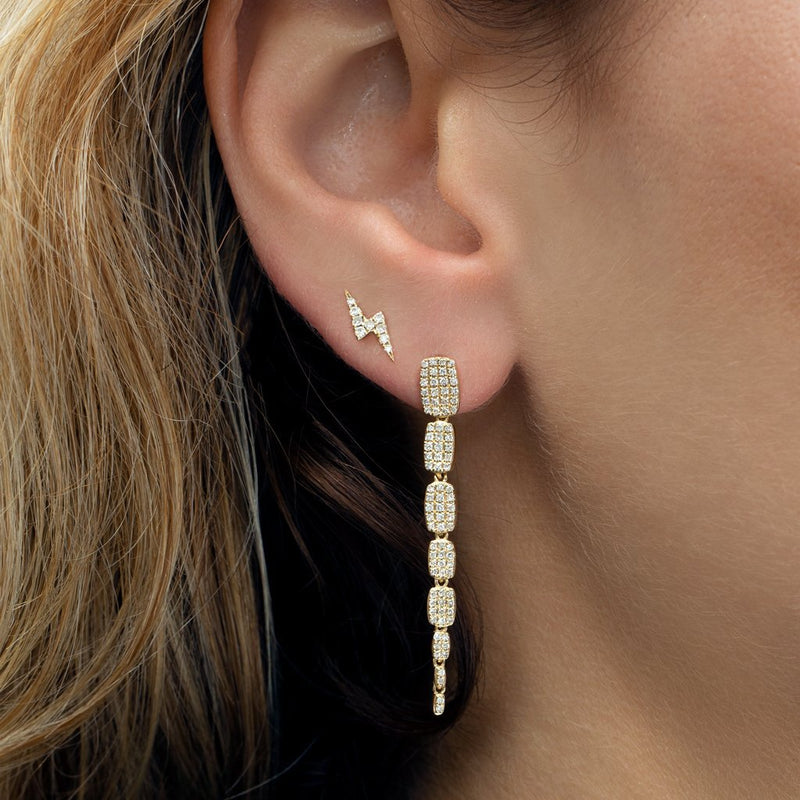 14KT White Gold Diamond Small Sienna Earrings-Anne Sisteron