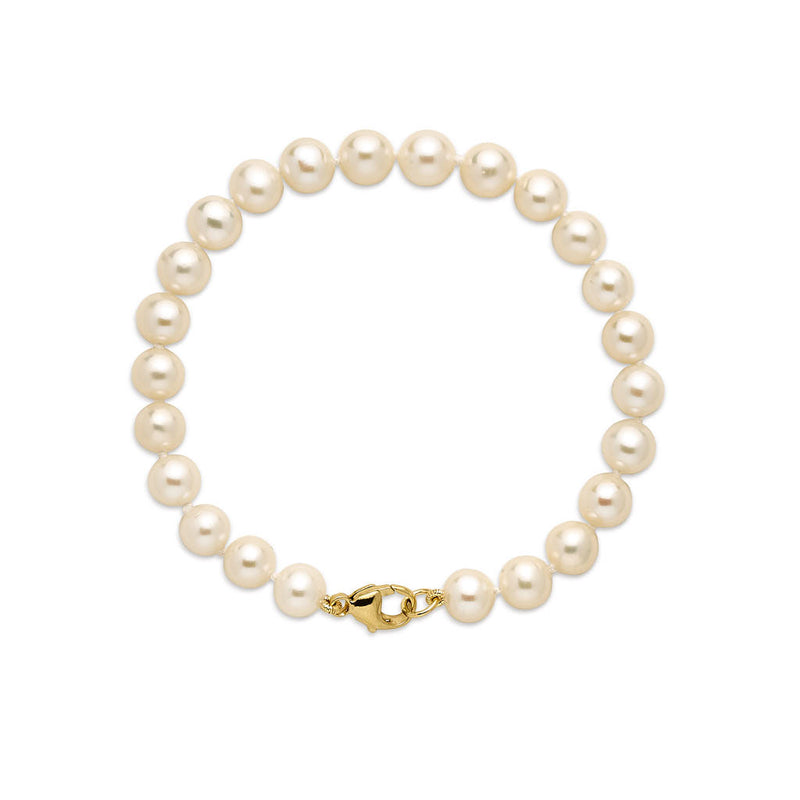 14KT Yellow Gold Grace 7mm Pearl Bracelet