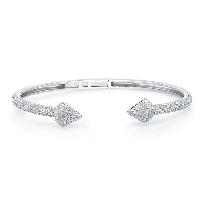 14KT White Gold Diamond Olympia Cuff