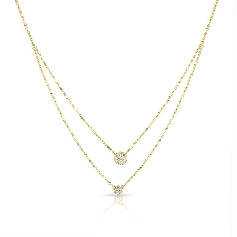 14KT Yellow Gold Diamond Mikaila Double Layer Necklace