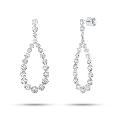 14KT White Gold Diamond Vanessa Earrings