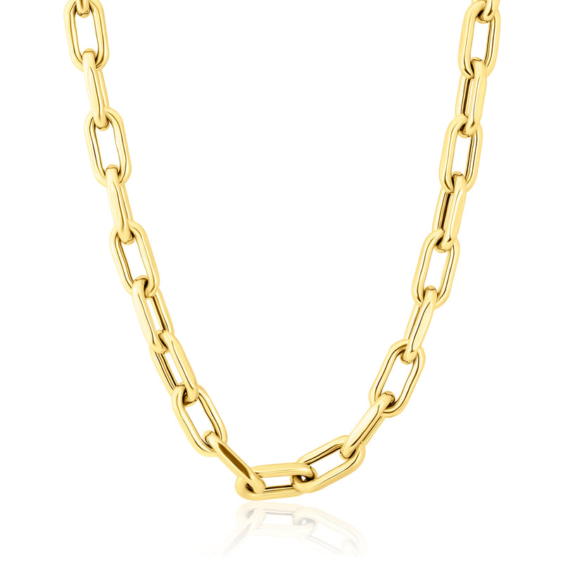 "14KT Yellow Gold 18"" Chain Link Luxe Lillian Necklace"