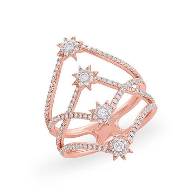 14KT Rose Gold Diamond Fireworks Ring