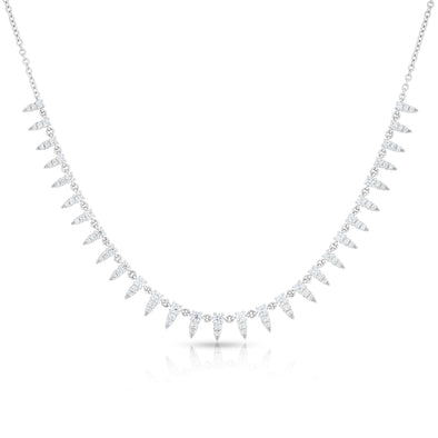 14KT White Gold Diamond Meghan Necklace