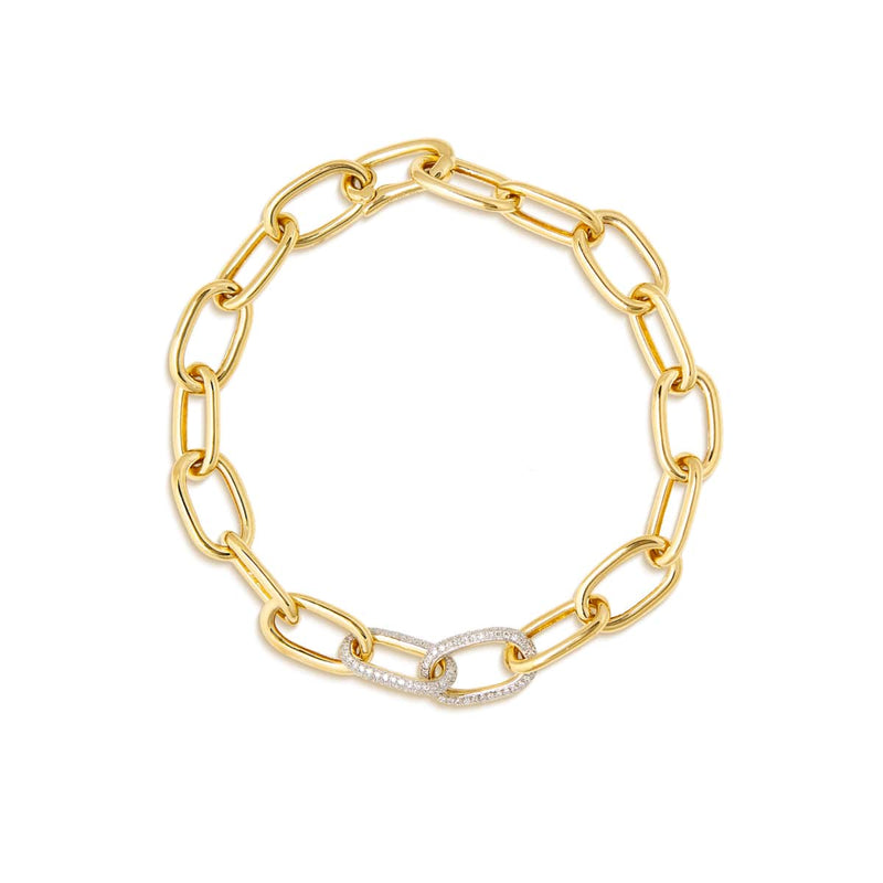 14KT Yellow Gold Diamond Janesse Chain Bracelet