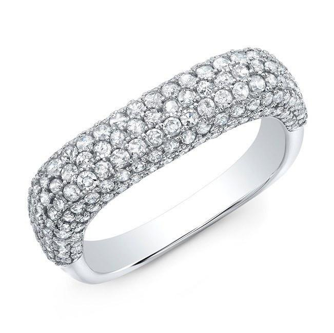 14KT White Gold Luxe Diamond Square Ring