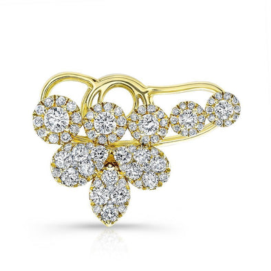 18KT Yellow Gold Diamond Carrie Ear Cuff