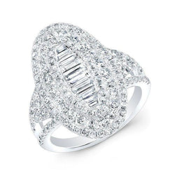 14KT White Gold Baguette Diamond Era Ring