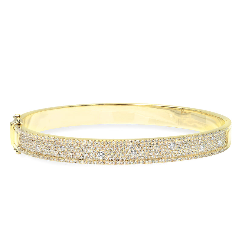 14KT Yellow Gold Diamond Candice Bangle Bracelet