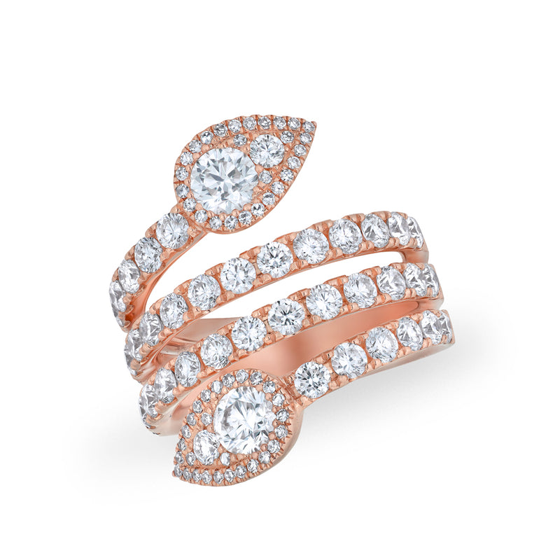 14KT Rose Gold Diamond Luxe Viper Ring