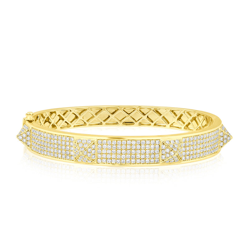 14KT Yellow Gold Diamond Reverie Bangle Bracelet
