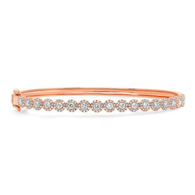 14KT Rose Gold Diamond Kira Bangle