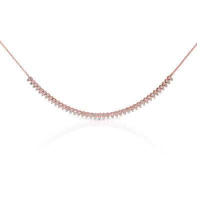 14KT Rose Gold Diamond Bridgette Necklace