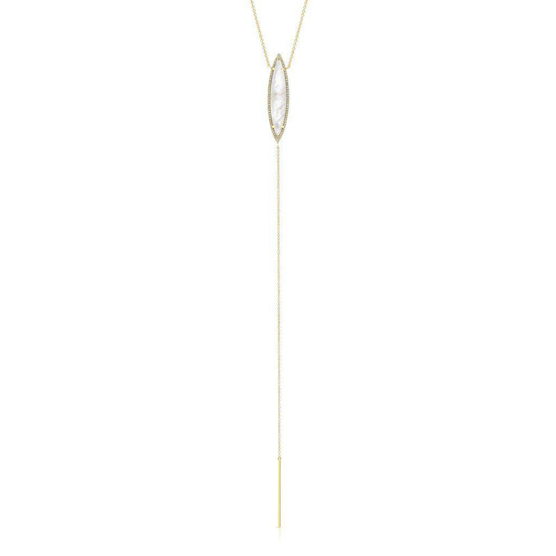 14Kt, Moonstone Lariat, Diamond, Fine Jewelry, Summer Necklaces