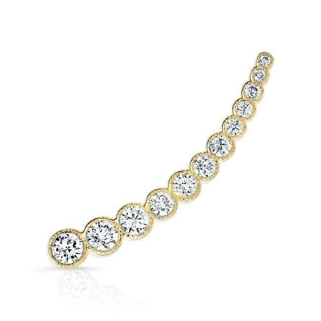 14KT Yellow Gold Diamond Luxe Shooting Star Ear Climber