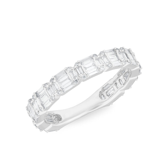 14KT White Gold Baguette Diamond Katelyn Ring