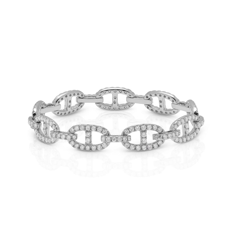 14KT White Gold Diamond Luxe Reign Bracelet