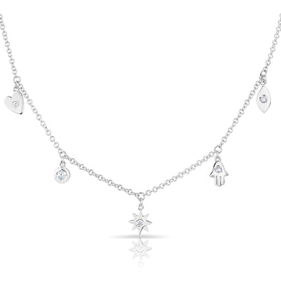14KT White Gold Diamond Penelope Necklace