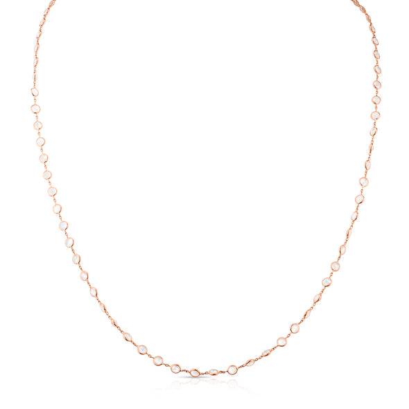 "14KT Rose Gold Moonstone 36"" Necklace"