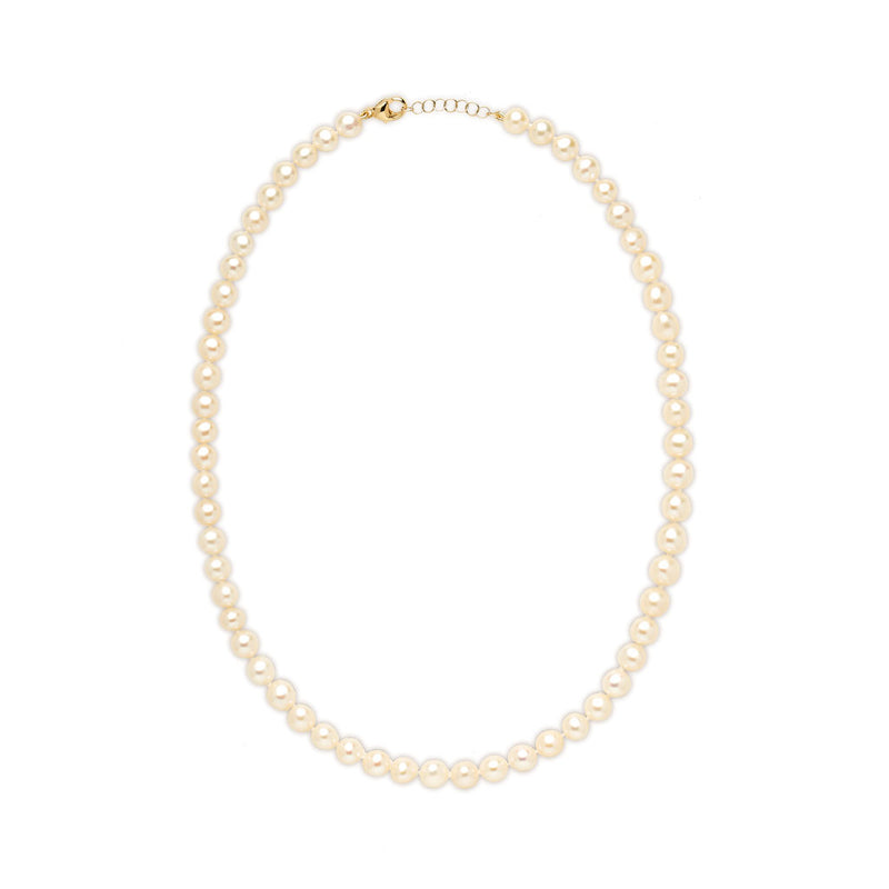 14KT Yellow Gold Grace 5mm Pearl Choker Necklace