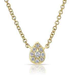 14KT Yellow Diamond Mini Pear Joan Necklace