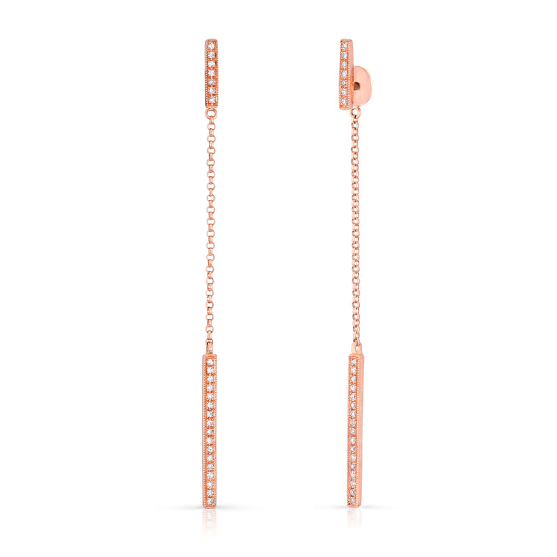 14KT Rose Gold Diamond Sofia Chain Earrings