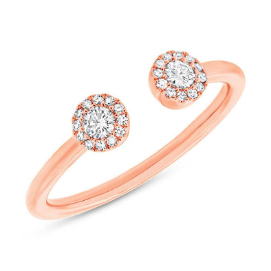 14KT Rose Gold Diamond Philippa Ring