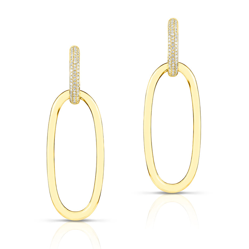 14KT Yellow Gold Diamond Janesse Earrings